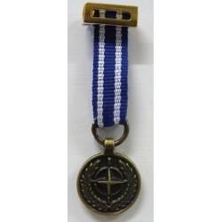 MEDALLA MINIATURA OTAN ART NO 5 ISAF ( AFGANISTAN )