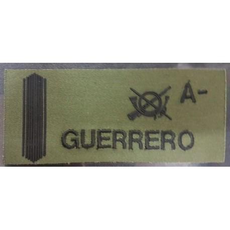 GALLETA IDENTIFICACIÓN MILITAR VERDE BORDADO