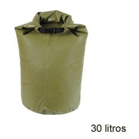 BOLSA ESTANCA WATERPROOF 30 LITROS MILITAR VERDE