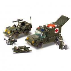 LEGO AMBULANCIA + JEEP MILITAR