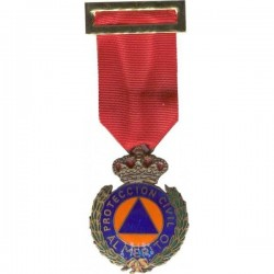 PROTECCION CIVIL DISTINTIVO ROJO BRONCE